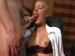 sexy golden-haired sweety love bukkake