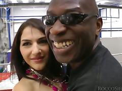 Pretty Valentina Nappi gets her ass destroyed by Black guy tube porn video