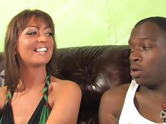 Superb Michaela Mancini has wild sex with two Blacks