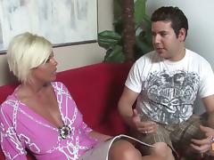Beautiful Blond MILF Gets Interracial Gangbang By Black Dudes