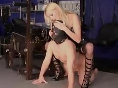 Mistress fucks her slave tube porn video