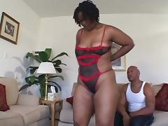 Ebony MILF gets toyed and then fucked by Black guy