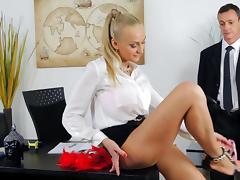 Business Woman, Anal, Blonde, Blowjob, Cute, HD