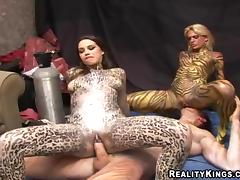 Hot Babes With Body Paintings Go Hardcore In A Reality Video porn tube video