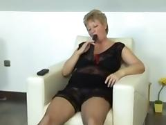hawt grannypaying with marital-device and large dick