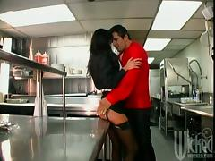 Super Hot Brunette Sydnee Steele Is Fucking In The Restaurants Kitchen porn tube video