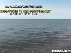 Slutwife creampied by strangers at the beach tube porn video