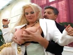 Busty mature Kirsten Halborg is banging