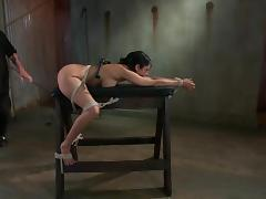 Sweetheart is getting gagged and hogtied