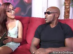 Wonderful Roxanne Rae Has Interracial Sex With A Huge Black Guy