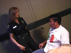 Naughty MILF Cop With Big Tits Fucking Her Prisoner