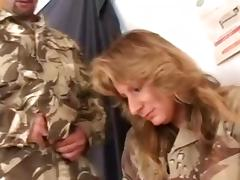 Pretty Roxy Blaze Goes Hardcore In A MMF With Two Military Guys