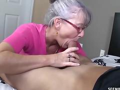 Are Grandmother sucks young cock site