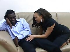 Sexy Mone Devine blows huge dick and gets fucked rough