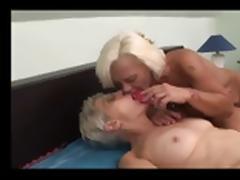 Blonde Mature Lesbians BVR porn tube video