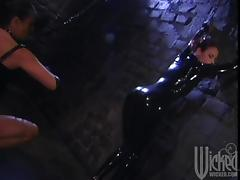 Femdom Action with a Busty Mistress Torturing Her Slave
