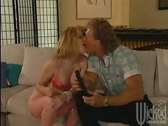 Adorable Micky Lynn toys her ass and gets fucked by older man