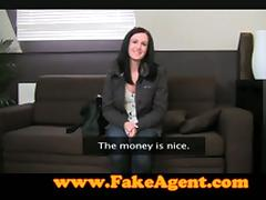 Sexy Brunette Gets Fucked Hard On Fake Porn Casting