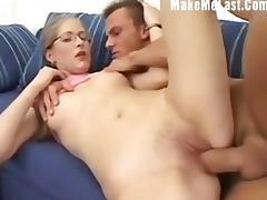 Cute Anal Nerd tube porn video