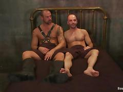 Here are two homos in a wild fetish sex
