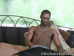 Sexy Guy Jerks This Fat Black Cock Like A Pro And Makes His Partner Happy