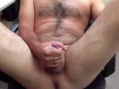 Me Stroking, Legs Spread, Cumshot tube porn video