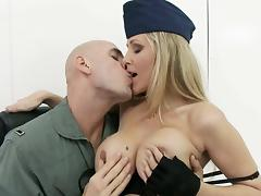 big titted milf officer gets fondled tube porn video