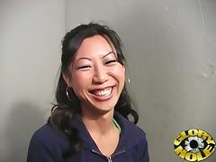 Horny Asian Tia Ling Gives Black Dude Amazing Blowjob