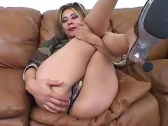 Oriental with large titts receives screwed in the gazoo