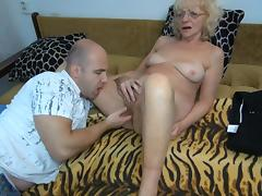 Granny Evan fuck with a bald fucker