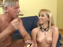 Aleska Diamond fucks with old Christoph Clark