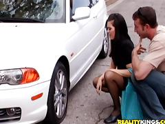 Hardcore action is what Ashley Blue wants in her bushy beaver