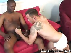 Glorious Finn Daniels Masturbates A Black Guy Over A Couch porn tube video