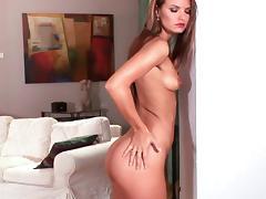 Stunning babe Suzie Carina is lying naked