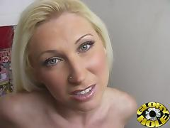 Super Hot MILF Devon Lee Sucking Stiff Gloryhole Rod