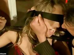 Hot girl gets bondaged and anal fucked