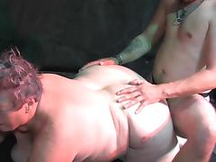 Doggy style sex with alluring fat mom Eva
