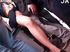 Hairy Slut Gets Fucked In A Bus porn tube video