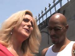Naughty MILF Brings Home Two Black Dude And Gets Hard DP