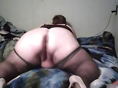 BBW, Amateur, Ass, BBW, Lingerie, Stockings
