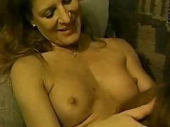 Pretty lesbian pleases her girlfriend with fingering