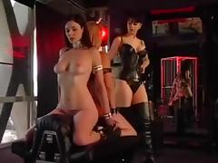Perverted lesbians enjoy some femdom fun
