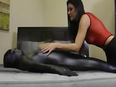 Kinky delicious MILF tortures her thrall tube porn video