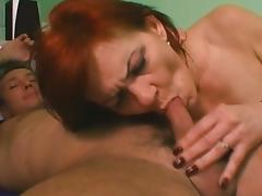 Bedroom, Bedroom, Blowjob, Couple, Cum in Mouth, Mature
