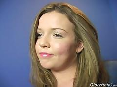 Riley Winters Cute Squishy Body Loves the Big Black Gloryhole!