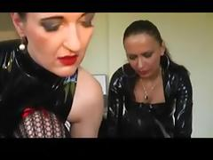 Wicked dominant babes in latex and their thrall