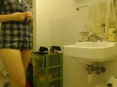 Hidden College Webcam Shower Scene