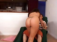 Alex blows and gets her pussy fucked from behind in the kitchen