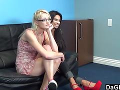 Casting Threesome With Two BBFs porn tube video