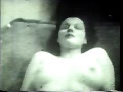 1960s threesome in black and white. tube porn video